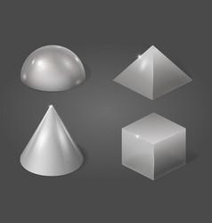 Set of metal forms vector