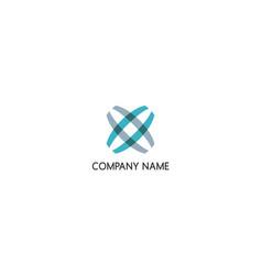 shape star unusual abstract company logo vector image