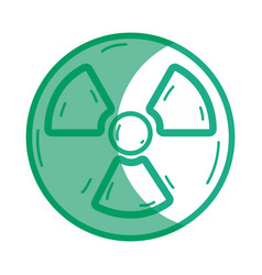 silhouette radiation symbol to dangerous and vector image