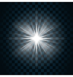 Sparkle light star 7 vector