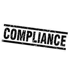 Square grunge black compliance stamp vector