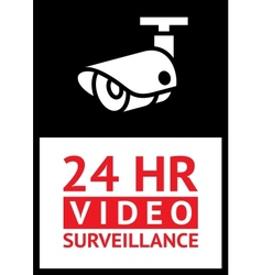 Sticker cctv vector