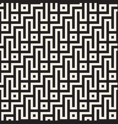 stylish lines lattice ethnic monochrome texture vector image