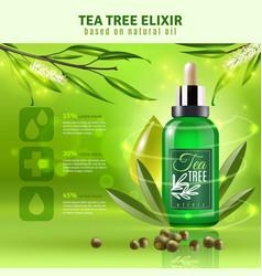 Tea tree oil background vector