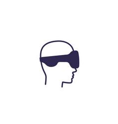 Vr helmet glasses virtual reality icon vector
