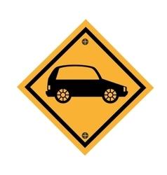 Car parking signal icon vector