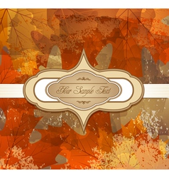 grungy autumn background vector image vector image