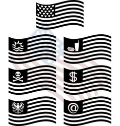 stencils of fantasy usa flags first variant vector image vector image