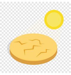 drought cracked desert landscape isometric icon vector image