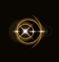 Golden shiny loop on a dark background bright vector