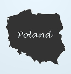 Map of Poland vector image vector image