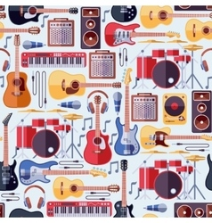 Music instruments seamless background vector image vector image