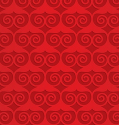 Red swirly heart grid vector image