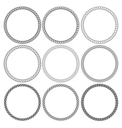 round rope frames collection on white background vector image