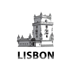 The sketch of Belem Tower in Lisbon vector image vector image