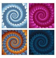 Abstract spiral background set eps10 vector image vector image
