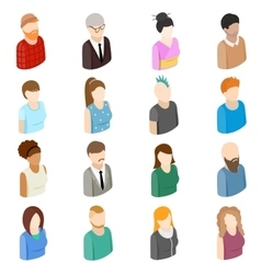 Avatars set icons vector image