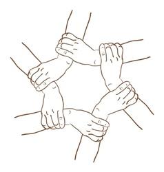 background of hands vector image