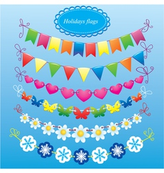 bunting and garland set vector image