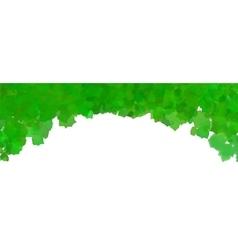 Green watercolor frame vector image