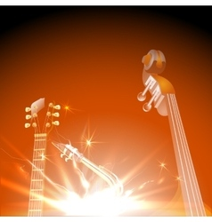 jazz instruments in the light of vector image vector image