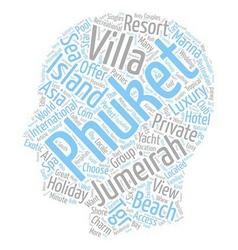 Jumeirah private island Jumeirah island Jumeirah vector image vector image