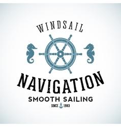 Maritime Navigation Abstract Logo Template vector image vector image