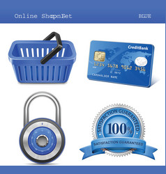online store icon set vector image vector image