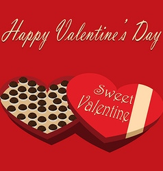 Valentines day box of chocolate candy sweet vector