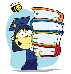 Asian Graduate School Girl vector image vector image