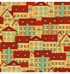 Background with yellow houses vector image vector image