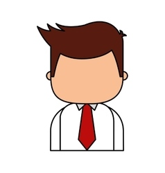 businessman funny character icon vector image