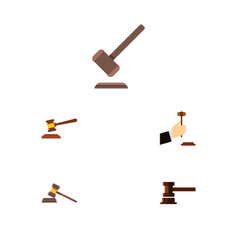 Flat icon court set of law court government vector
