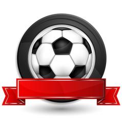 labels ball shield vector image vector image