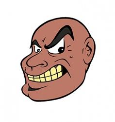 mean guy vector image vector image