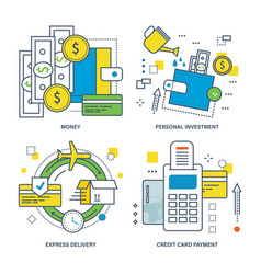 money personal investment express delivery vector image