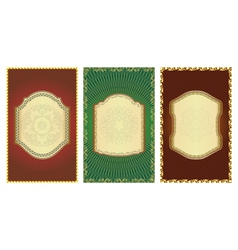 Set of vintage gold-framed labels vector image