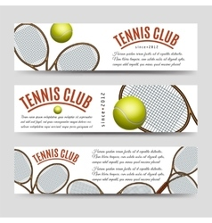 Tennis club banner collection vector image vector image