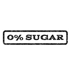 0 percent sugar watermark stamp vector image