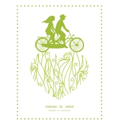 abstract swirls texture couple on tandem bicycle vector image