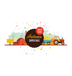 Autumn super sale agribusiness agriculture and vector