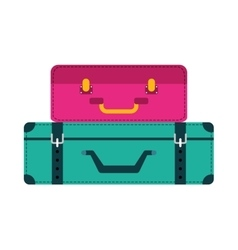 Bag suitcase gaggage icon vector