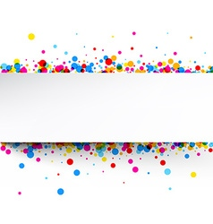 Banner with color drops vector image