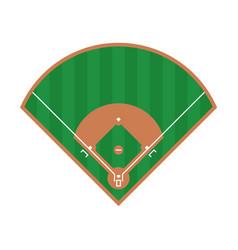 Baseball field icon flat baseball field design vector