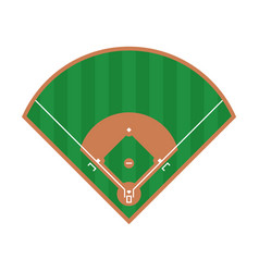 baseball field icon flat field design vector image