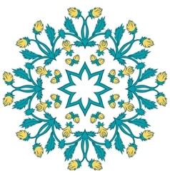 Beautiful vintage ornament of a greeting card vector