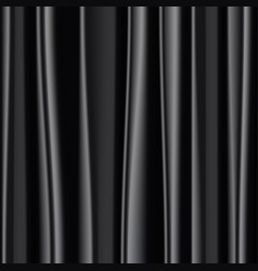 black silk fabric background vector image
