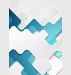 Blue grey abstract geometric corporate concept vector