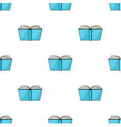 blue opened book icon in cartoon style isolated on vector image