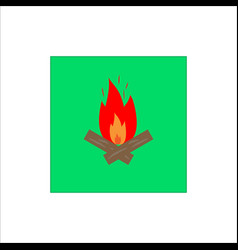 bonfire sign vector image
